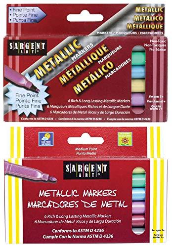 Bundle - Sargent Art Liquid Metals Metallic Markers, 2-Pack