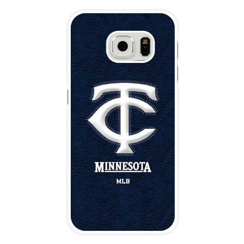 Galaxy S6 Edge Case, Onelee(TM) MLB Minnesota Twins Samsung Galaxy S6 Edge Case [White Hard Plastic]