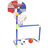 Jeval 2-in-1 Basketball Backboard Football Goal Toy kit for Kids(1 pcs,Small)