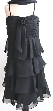 Exklusive Angebote heißer verkauf authentisch modischer Stil New G.O.L. New G.O.L. Gol Konfi-Kleid, schwarz, mit Stola ...