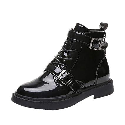 84dcea629e9 Amazon.com: Harpi Patent Leather Boots Fashion Women Shoes Women's ...