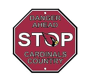 """Amazon.com : NFL Arizona Cardinals Stop Sign, 12"""" x 12"""