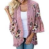LISTHA Lace Kimono Floral Cardigan for Women Open CapeCasual Coat Blouse Jacket