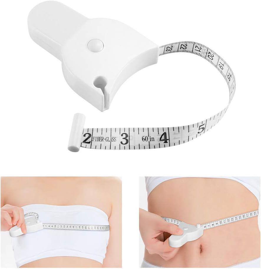150 cm color blanco 3 unidades de cinta m/étrica de doble cara para medir la circunferencia del pecho y la cintura