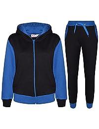 Kids Tracksuit Girls Boys Fleece Hooded Hoodie Bottom Jogging Suit Jogger 2-13Yr