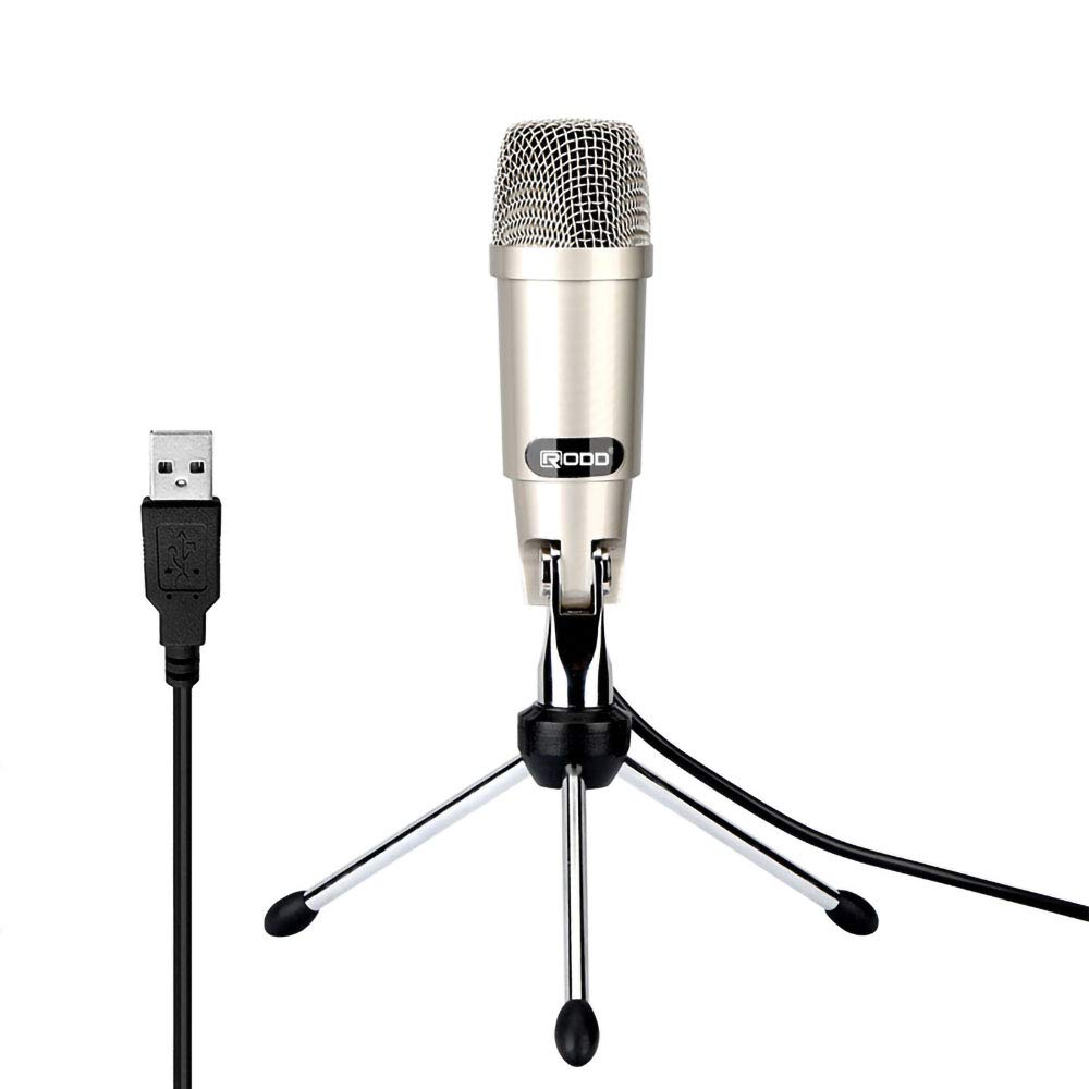 CJP1 USB Condenser Microphone, Conference Computer Microphone Without Software Driver Plug and Play Desktop Microphone Suitable for Computers