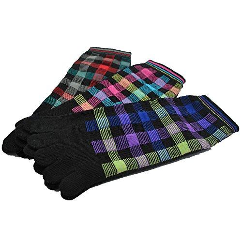 Walking Mountain Yoga Socks-Cotton Grid style Men's socks(Pack 3 Pairs)Size US8-12 by Walking Mountain