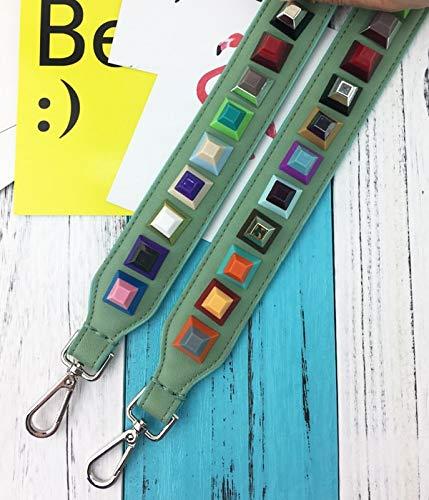 Green occasionnels d'accessoires d'épaule de Silver sac en rivets mode colorés meatl sac punk à 3 cuir dames de parties sac de couleurs PU de sangle main ceinture de Pnizun ApzwXqa