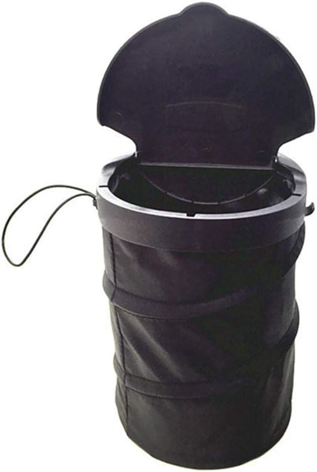 Xiton 1PC Tidy Car Rubbish Bin Car Trash Can Garbage Bin with Lid Collapsible Travel Organizer Bag Portable Waste Basket Car Back Seat Small Holder Hanging Trash Bin for Travel Camping