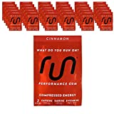 RUN GUM Cinnamon Energy Chewing Gum 50mg Caffeine Taurine & B-Vitamins 64 Pieces (32pk) Best Value