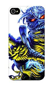 Fireingrass Durable Defender Case For Iphone 5/5s Tpu Cover(iron Maiden Bands Groups Entertainment Hard Rock Heavy Metal Eddie Album Art Dark Skulls Covers ) Best Gift Choice