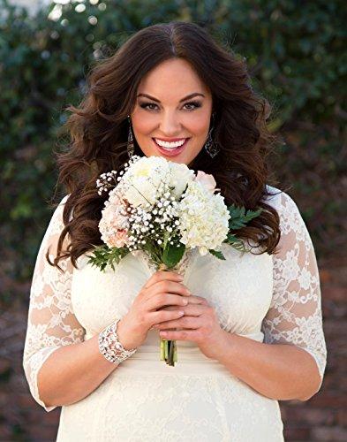 3edcd4c4b88 kiyonna womens plus size amour lace wedding gown at amazon womens clothing  store