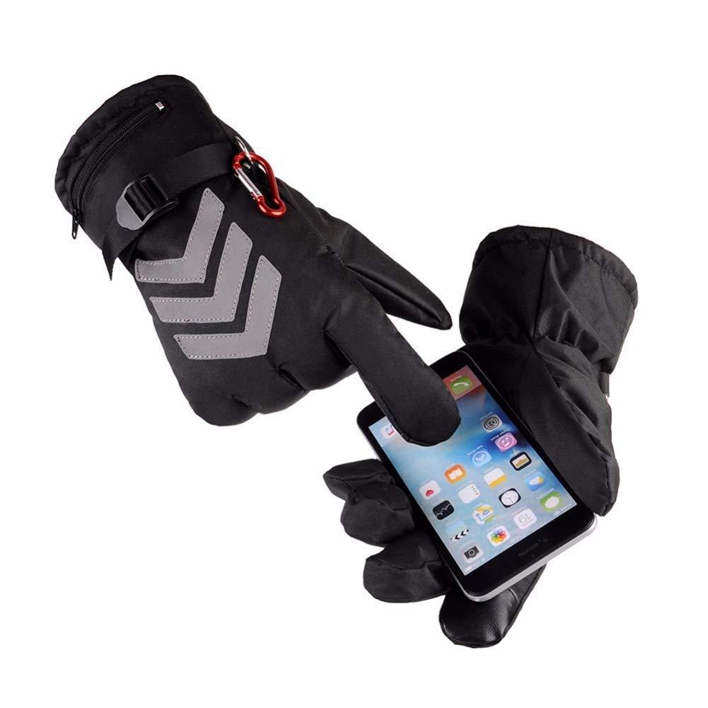 TZZ Männer und Frauen warme Handschuhe Elektrisch beheizte Fahrradhandschuhe, Akku-Heizung Motorrad-Handschuhe Reiten Racing Biken Sport Warme Handschuhe Schwarz