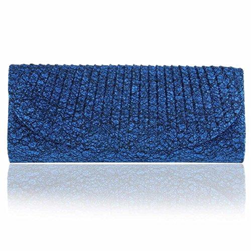 Clutch Women's Evening Damara Blue Long Glitter Bag Sparking PTIIaqxC