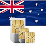 Australia & New Zealand 1GB Prepaid Fast Internet Data SIM 42 Countries Instant Connection 30 Day Plan