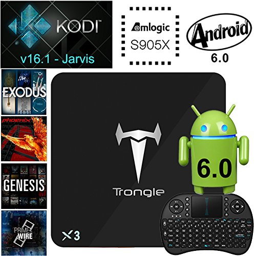 Amazon Lightning Deal 95% claimed: [Free Wireless Keyboard] X3 Android 6.0 Marshmallow Amlogic S905X Quad Core Android TV Box Kodi 16.1 Fully Loaded Add-ons 1G/8G WIFI HD2.0b 4K 60fps Blu-Ray Streaming Stick Media Player HDR10 STB