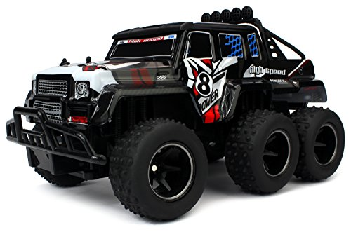 Velocity Toys Speed Wagon 6X6 Remote Control RC High Performance Truck, 2.4 GHz Control System, Big Scale 1:10 Size Ready To Run (Colors May Vary) - 10 Scale Ferrari