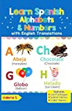 Learn Spanish Alphabets & Numbers: Black & White Pictures & English Translations.