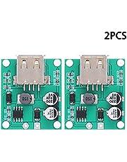 2Pcs Regulador de voltaje USB Módulo de caja de conexiones Salida hembra USB Entrada fácil de instalar Salida 5-18V 5V2A para teléfonos móviles y MP3