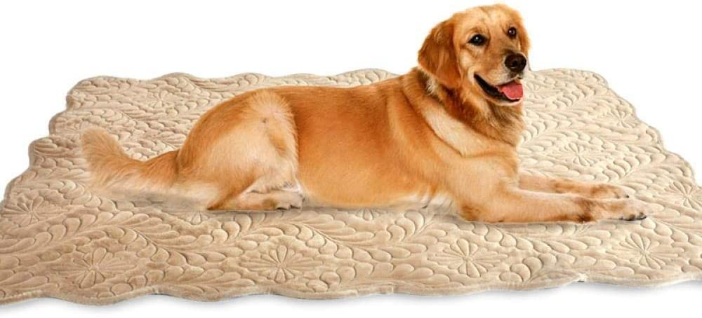 King Size Dog Mat Embroidered Pet Mat Large Dog Mat Kennel Cat Mat Soft Anemone XL 90 * 120cm (35.43 * 47.24 Inches), XL,90 * 120CM