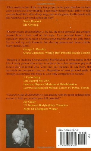 Championship Body Building Chris Aceto S Instruction Book For Body Building
