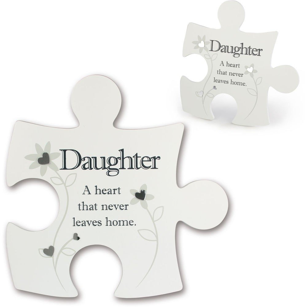 Jigsaw Wall Art ~ Said with Sentiment ~ Interlocking ~ DAUGHTER