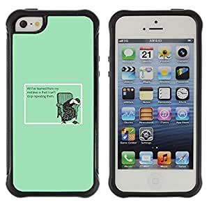 Suave TPU GEL Carcasa Funda Silicona Blando Estuche Caso de protección (para) Apple Iphone 5 / 5S / CECELL Phone case / / Learning Mistakes Stop Slogan Funny Quote /