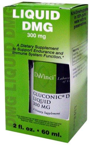 - Davinci Laboratories - Gluconic DMG Liquid 300 MG, Supplement for Adrenal Fatigue, Focus and Immune System Health, 2 oz.