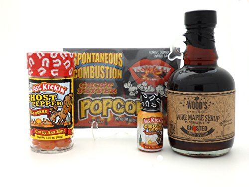 Spicy Ghost Pepper Sweet Heat Set - Ghost Pepper Maple Syrup