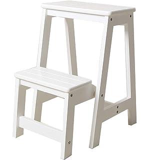 Klapptreppe Klapptritt Stabile Klapphocker Leiter Aus Holz 2
