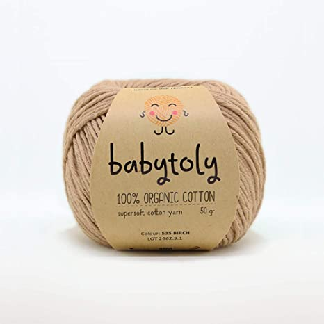 Ovillo de lana 100% algodón orgánico certificado GOTS para tejer a mano, cada madeja 50 g (1,76 oz) / 105 m (115 yardas) algodón orgánico supersuave: Amazon.es: Juguetes y juegos