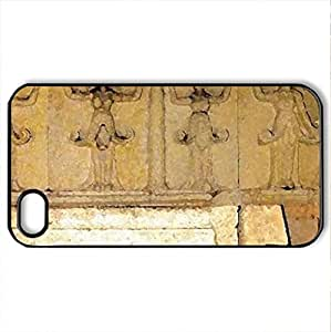 Thracian Tomb - Case Cover for iPhone 4 and 4s (Ancient Series, Watercolor style, Black)