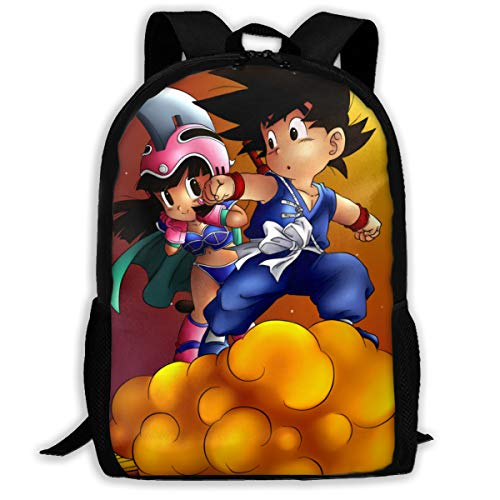 Large Capacity Backpck, Multipurpose Anti-Theft Carry On Bag with Adjustable Shoulder Straps, College School Bookbag, Travel Hiking Daypack Computer Bag (Dragon Ball)