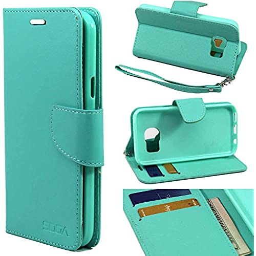 Galaxy S7 Edge Case, Samsung Galaxy S7 Edge Wallet Case, SOGA [Pocketbook Series] PU Leather Magnetic Flip Credit Card ID Wallet Case for Samsung Sales