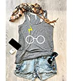 XX Large/Heather Grey/Harry Potter/Tri-blend tank/True To Women's Fit/Hand Made/Made To Order/Women's Eco Tri-Blend Tanks/Women Clothing/Super Soft Tank/Harry Potter Shirt/