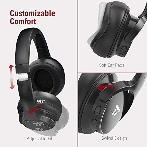 cdff150553d624 ... TaoTronics Active Noise Cancelling Bluetooth Headphones HiFi Stereo  Wireless Over Ear Deep Bass Headset w/ ...