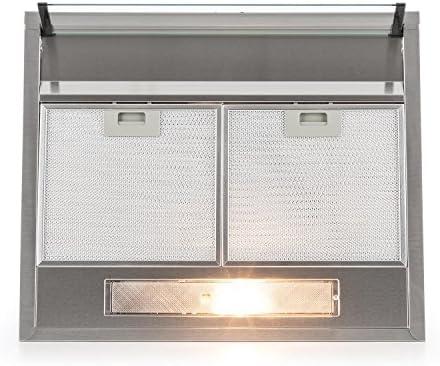 Klarstein UW60SF campana extractora (205m³/h capacidad de extracción, 60 cm, funcionamiento silencioso, 2 filtros extraibles de aluminio lavables, acero inoxidable cepillado): Amazon.es: Hogar