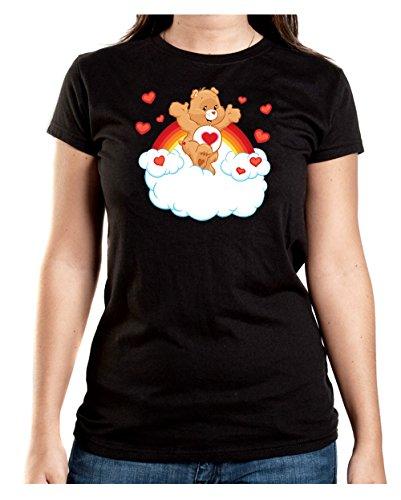 Heart Bear T-Shirt Girls Black Certified Freak