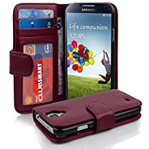 Cadorabo - Book Style Wallet Design for Samsung Galaxy S4 (I9500) with 2 Card Slots and Money Pouch - Etui Case Cover Protection in PASTEL-PURPLE