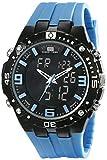 U.S. Polo Assn. Sport Men's US9175 Blue Silicone Analog Digital Watch
