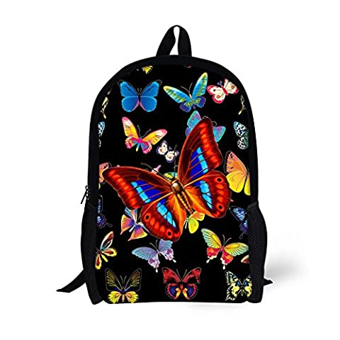 Showudesigns Pretty Butterfly Backpack for Teenager Girls Lightweight Bookbags (Backpack With Butterflies)