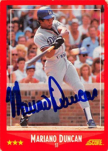 Autograph 126156 Los Angeles Dodgers 1988 Score No. 321 Mariano Duncan Autographed Baseball Card ()