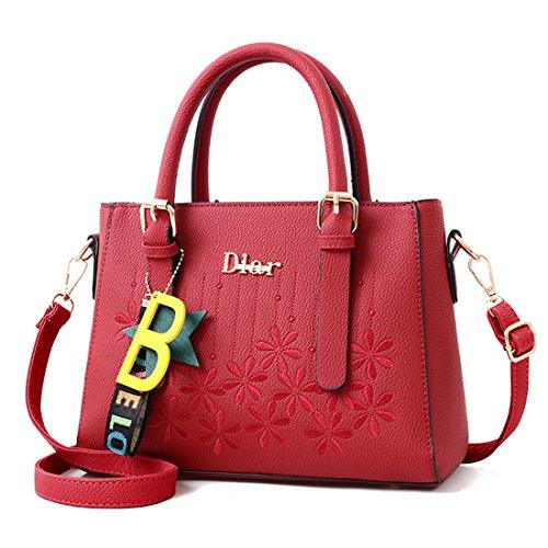 Dark Red Cylinder Bag Handbag Bag Big Easily New The Dunland nxqXwf4Y0B