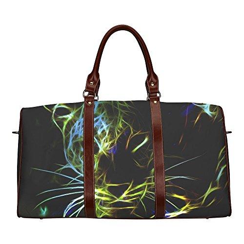 Neon Leopard Custom Waterproof Travel Tote Bag Duffel Bag...