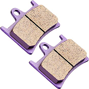 ECCPP FA135 Brake Pads Front and Rear Carbon Fiber Replacement Brake Pads Kits Fit for 2008-2009 2011-2013 Yamaha Rhino 700