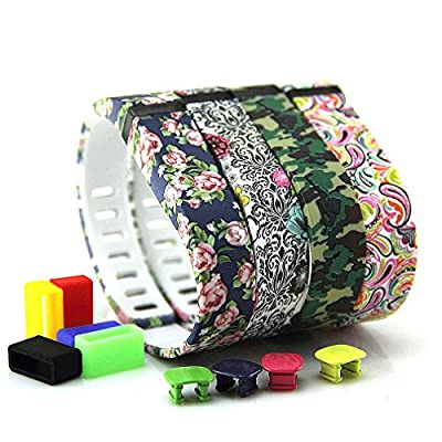 2015 Latest Band Set For Fitbit Flex, Replacement bands Set, Newest Layout, Water Transfer Printing Set With Metal Clasps for Fitbit Flex Activity Tracker(Small)