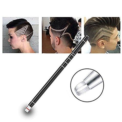Hair Styling Tools,Hair Tattoo Trim Styling Face Eyebrow Shaping Device,Hair Engraving Pen + 10 Blades + Tweezers Hair Styling Eyebrows Beards Razor Tool (Black)