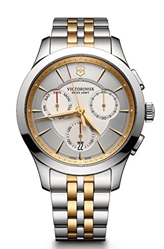 Victorinox Men's 'Alliance' Swiss Quartz Stainless Steel Casual Watch, Color:Two Tone (Model: - 5 Dollars Than Less Best For Stocks