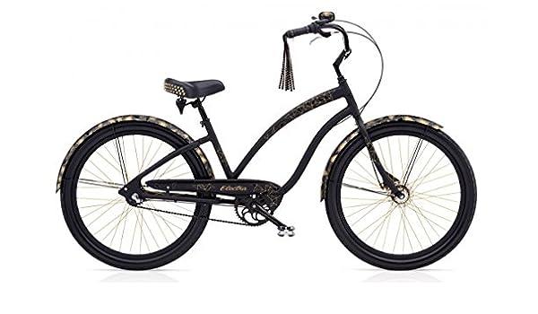 Electra Glam Punk 3i – Bicicleta de bicicleta negro mate Beach ...