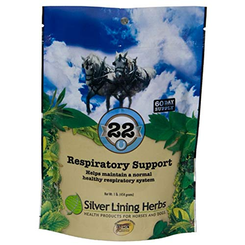Silver Lining Herbs - Respiratory Support - for Horses   Supports Normal Function Of The Lungs   Assists Horses Body In Combating Environmental Pollutants  Helps Keep Airways Clear  Made In The USA by Silver Lining Herbs  From Natural Herbs